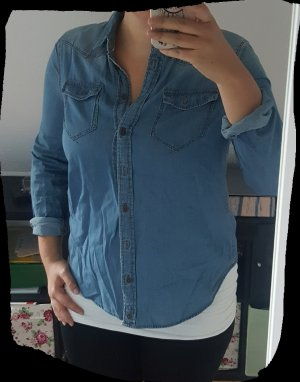 Clockhouse Bluzka jeansowa niebieski