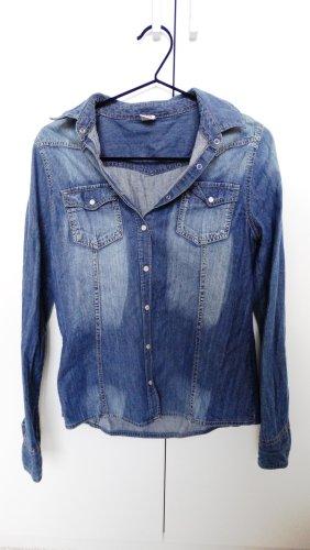 Jeans blouse veelkleurig