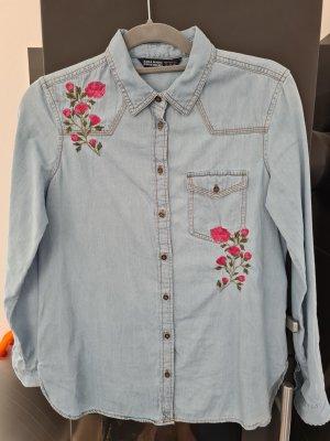 Zara Basic Blouse en jean multicolore