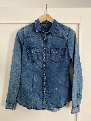Review Jeans blouse blauw