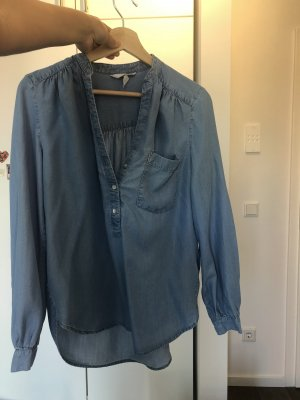 H&M Bluzka jeansowa szary niebieski