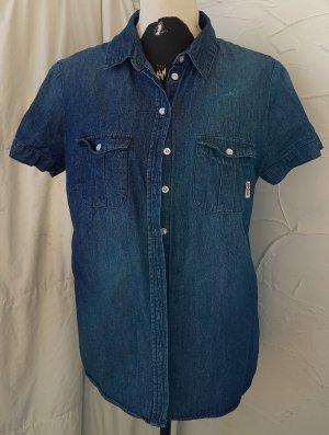 Jeansbluse, Gr.42/44, blau
