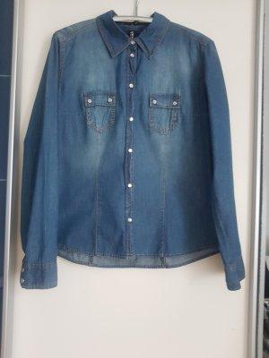 Jeansbluse Gr 42 von Colours