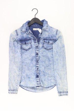 Jeansbluse Größe 34 Langarm blau