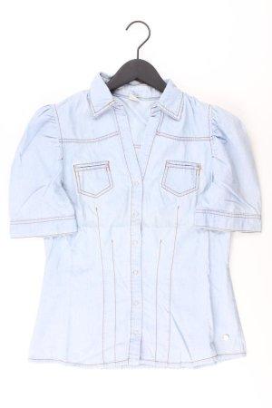 Jeansbluse Größe 38 Kurzarm blau aus Baumwolle