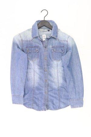 Jeansbluse Größe M Langarm blau