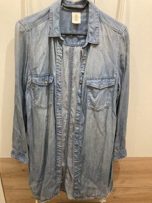H&M Blusa denim azzurro