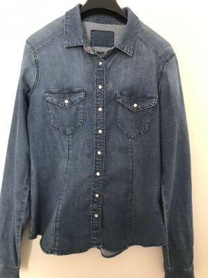 H&M Blouse en jean bleu acier