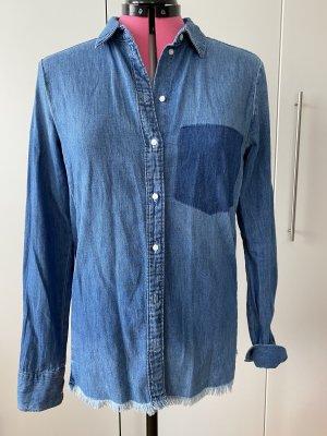H&M Bluzka jeansowa stalowy niebieski