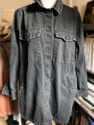 "Jeansbluse ""Jacke"" von Zara Gr. L 40 grau"