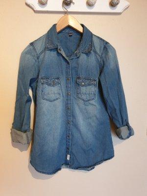 Pimkie Blouse en jean bleu