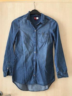 H&M Divided Blusa denim blu acciaio