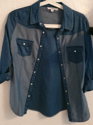 Tally Weijl Jeans blouse donkerblauw-azuur