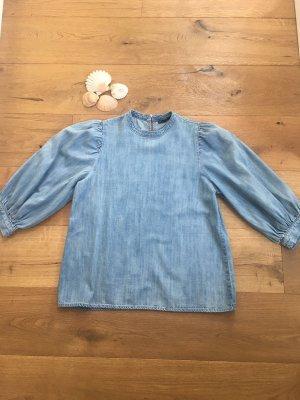 Vero Moda Blouse en jean bleu azur
