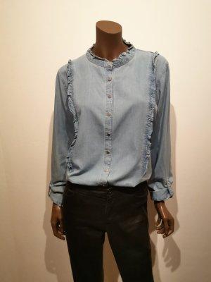 Denim Blouse pale blue cotton