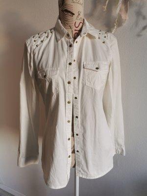 Pimkie Blouse en jean blanc