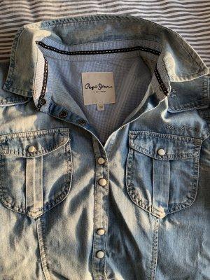 Pepe Jeans Blusa denim grigio ardesia