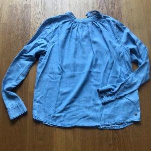 Jeansbluse Stehkragen von Garcia Größe L