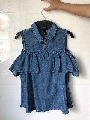 Monki Denim Blouse blue