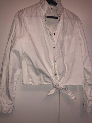 Blouse en jean blanc