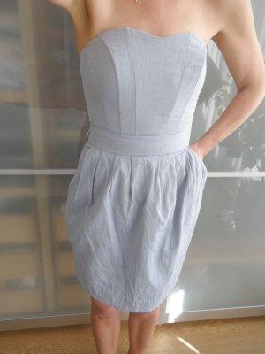 H&M Vestido corsage azul celeste