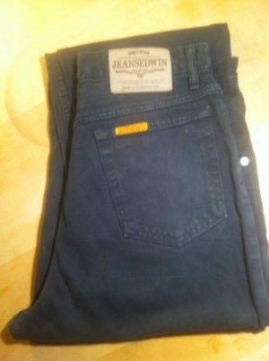 Jeans a vita alta blu Cotone