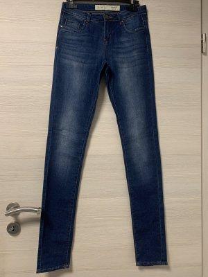 Jeansfarbige Hose