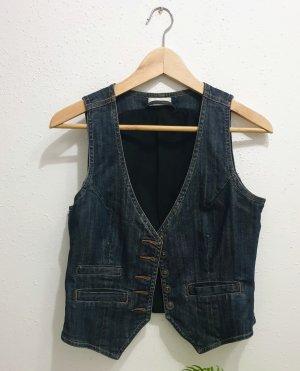 Orsay Gilet en jean bleu foncé
