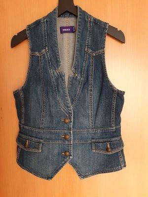 Mexx Smanicato jeans grigio ardesia-blu acciaio