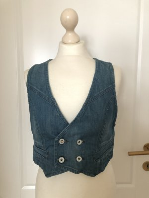 Jeansgilet blau
