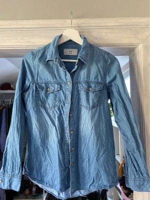 New Look Denim Shirt blue-dark blue