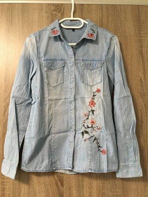 Vero Moda Chemise en jean bleu azur