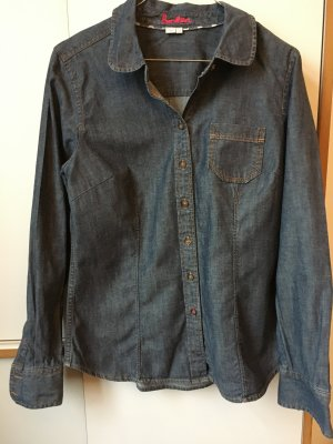 Boden Blouse en jean bleu foncé