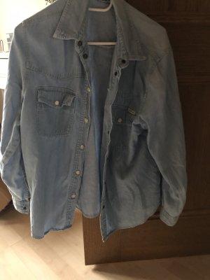John Baner Bluzka jeansowa błękitny-stalowy niebieski