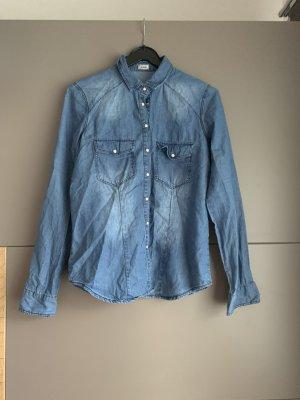 Pimkie Chemise en jean bleu foncé