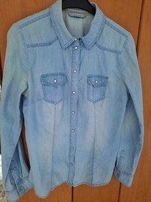 Street One Blouse en jean bleu clair