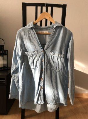 Zara Blouse en jean bleu clair