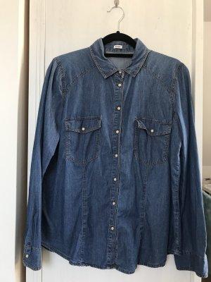 Pimkie Denim Shirt steel blue-blue