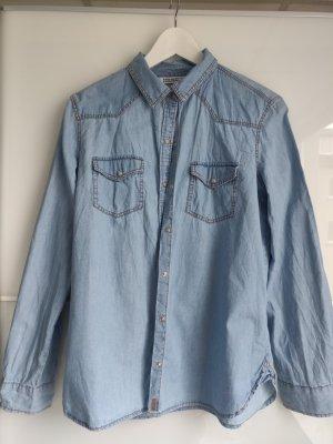 Zara Jeansowa koszula Wielokolorowy