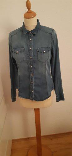 H&M Blusa denim blu