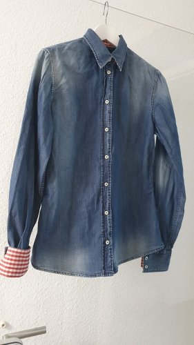 D&C Camicia denim blu Cotone