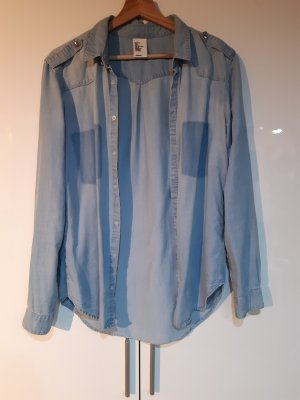 H&M DENIM Spijkershirt azuur
