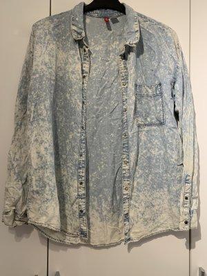 H&M Jeansowa koszula błękitny-biały