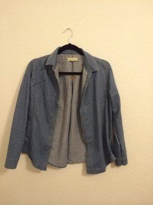 Urban Outfitters Jeansowa koszula stalowy niebieski
