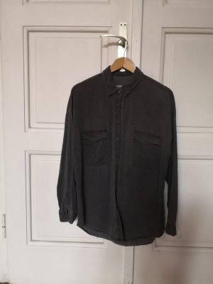 Pull & Bear Denim Shirt silver-colored-grey