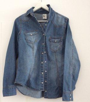 H&M Denim Shirt dark blue
