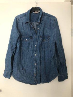 H&M Camicia denim blu fiordaliso