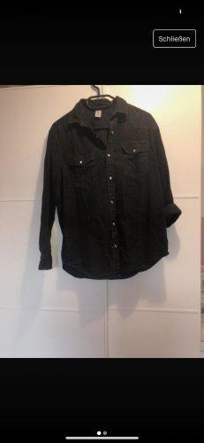 H&M Jeansowa koszula czarny