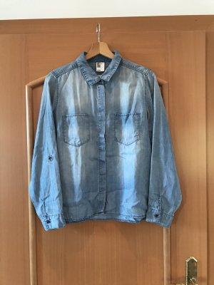 & DENIM Jeansowa koszula niebieski