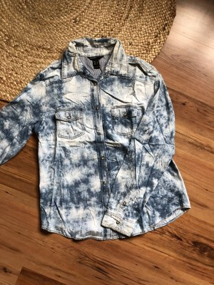 Mango Denim Shirt multicolored